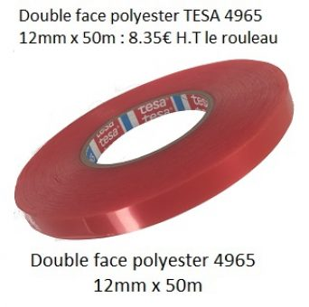 PROMO Double face polyester 4965 12mm x 50m